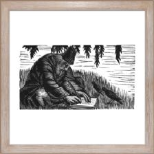 The Hermit Writes a Letter - Ready Framed